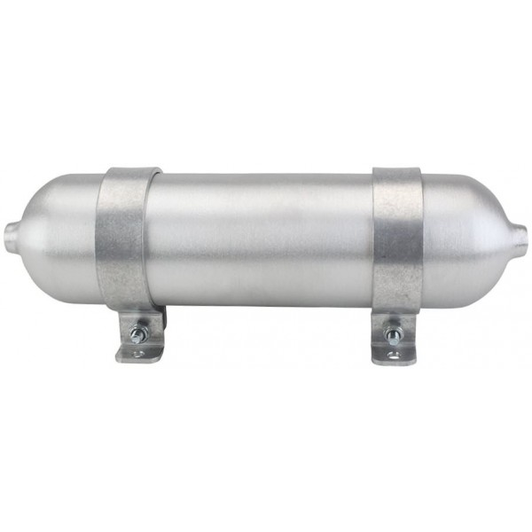 "Seamless Aluminum Air Tank - 12"" L, 2.875"" W, Two 1/4"" Ports, 1/4 Gallon"