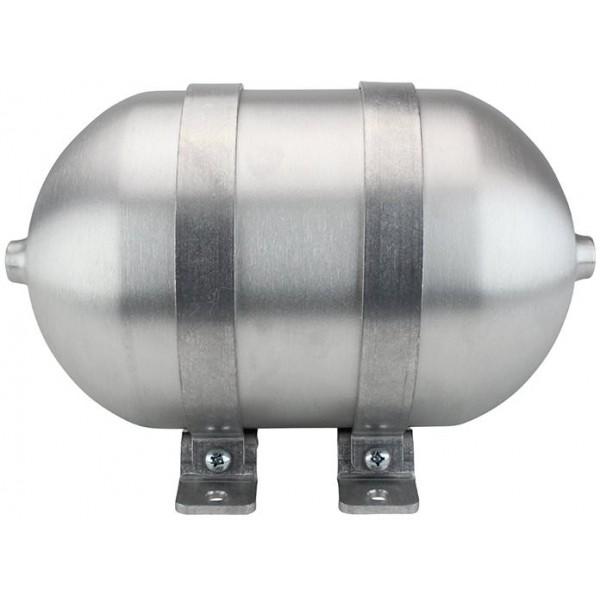"Seamless Aluminum Air Tank - 12"" L, 5.562"" W, Four 3/8"" Ports, One 1/4"" Port, 1 Gallon"