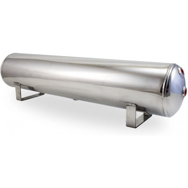 4 Gallon Aluminum Air Tank With Four Ports - Polished