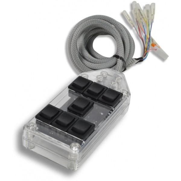 Clear 7-Switch Rocker Switch Box