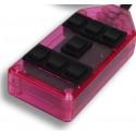 Pink 7-Switch Rocker Switch Box