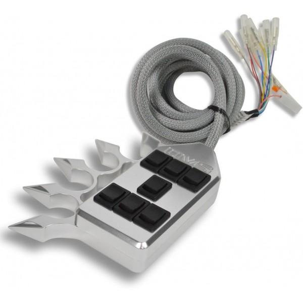Billet Spiked 7-Switch Rocker Switch Box