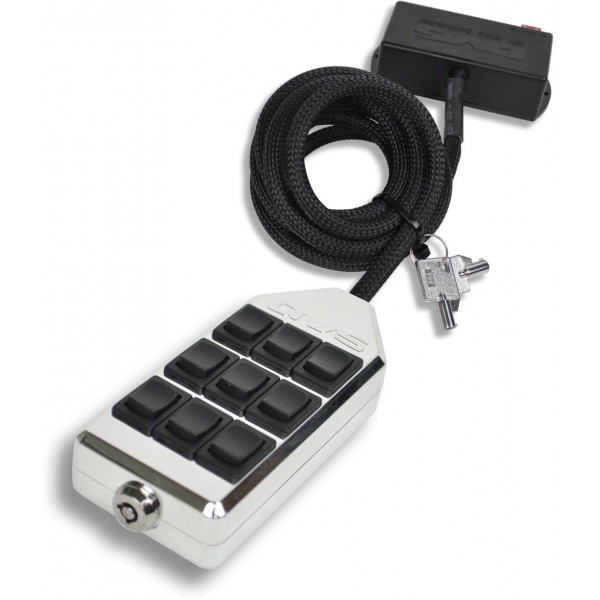 Chrome 9-Switch Rocker Switch Box