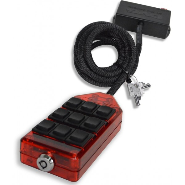 Red 9-Switch Rocker Switch Box