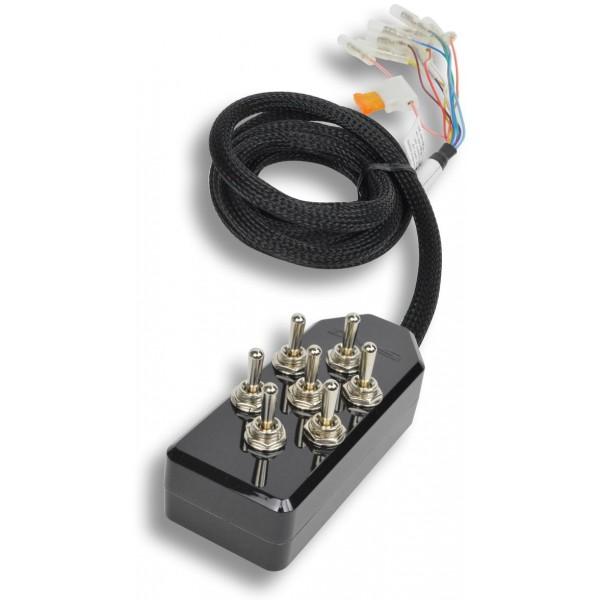 Black 7-Switch Toggle Switch Box