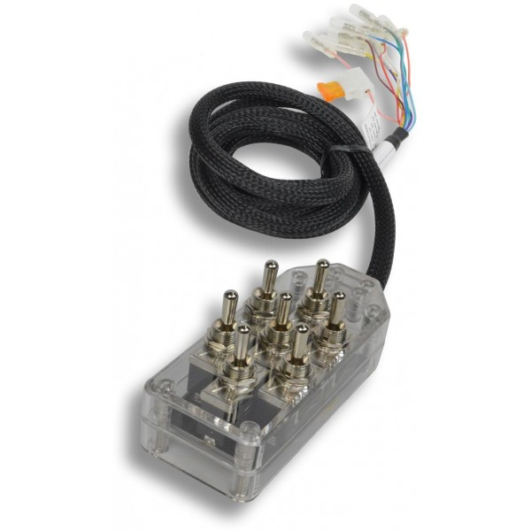 Clear 7-Switch Toggle Switch Box