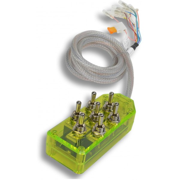 Green 7-Switch Toggle Switch Box