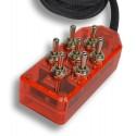 Red 7-Switch Toggle Switch Box