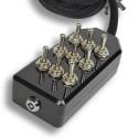 Black 9-Switch Toggle Switch Box