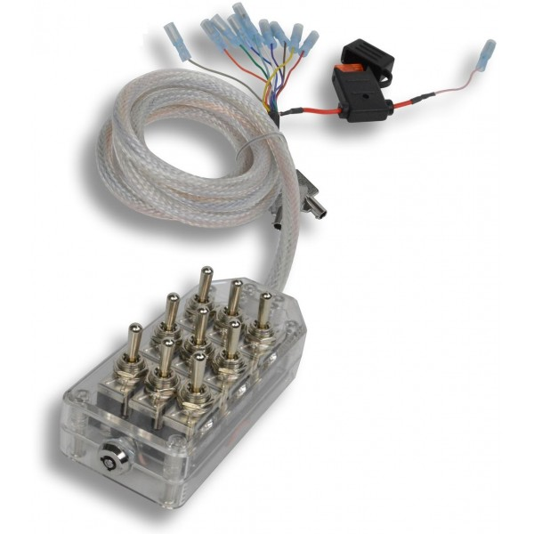 Clear 9-Switch Toggle Switch Box