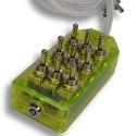 Green 9-Switch Toggle Switch Box