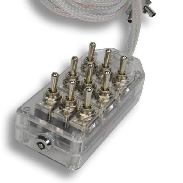 LED 9-Switch Toggle Switch Box