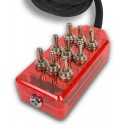 Red 9-Switch Toggle Switch Box