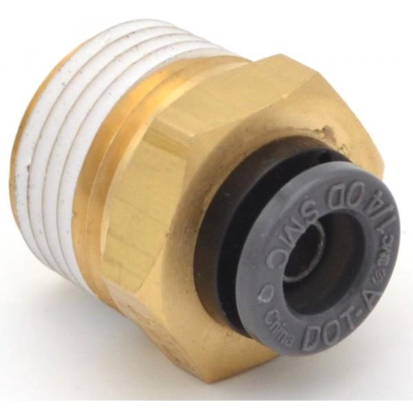 "Male connector 3/8""npt x 1/4""ptc"