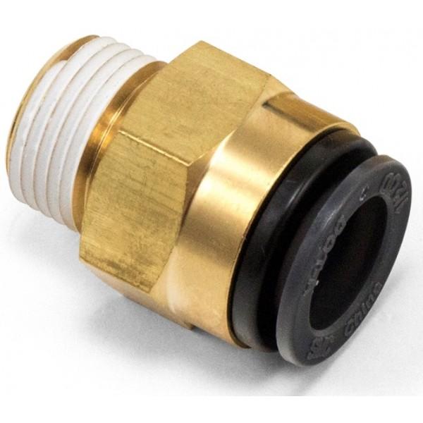 "Male connector 3/8""npt x 1/2""ptc"