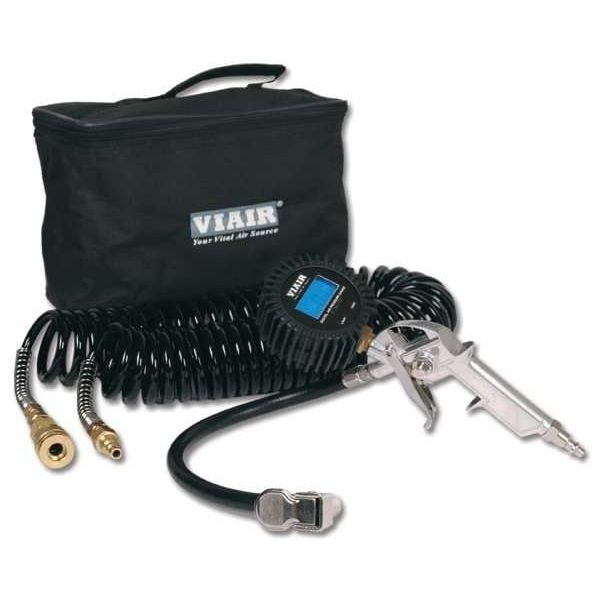 "Inflation Kit w/2.5"" Digital Tire Gun, Reads Up to 200 PSI,  30' Hose, Carry Bag"