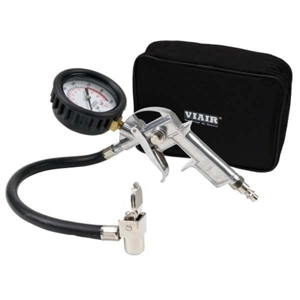 """Tire Inflation Gun, 2.5"""" Mechanical Gauge (Normally Closed Trigger with 0~160 psi Gauge), Carry Bag"""