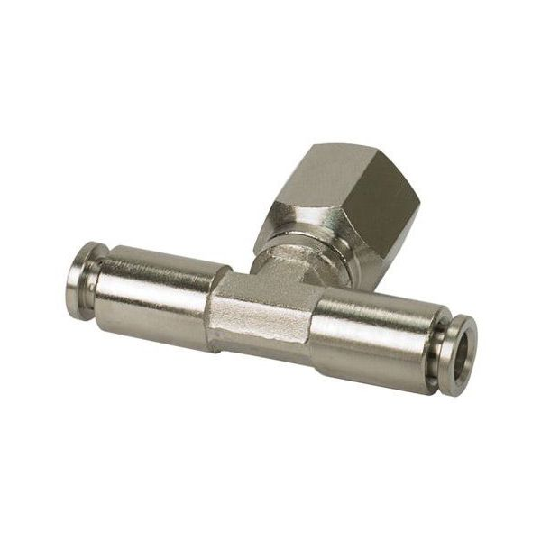 "3/8"" NPT(F) 1/8"" to 1/8"" Swivel T-Fitting (4 pcs) DOT Approved"