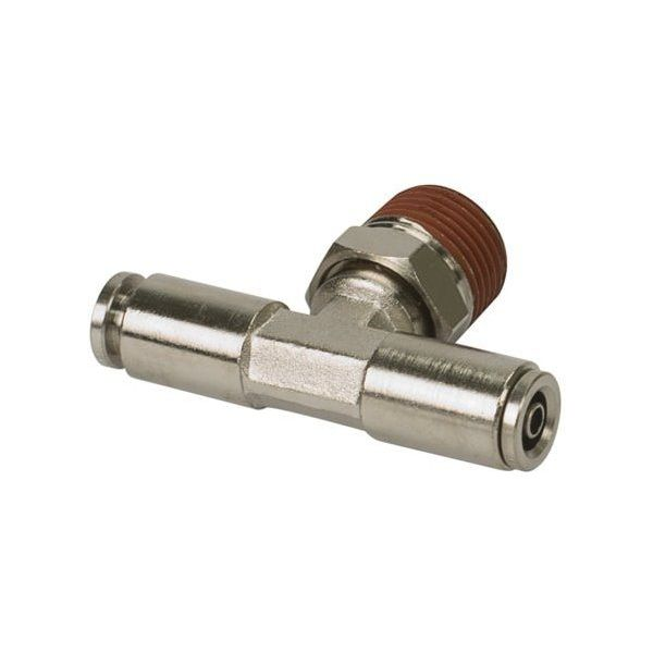 "3/8"" NPT(M) 1/8"" to 1/8"" Swivel T-Fitting (2 pcs) DOT Approved"