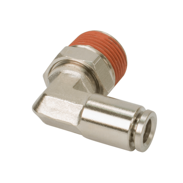 """1/4"""" NPT(M) to 1/8"""" Airline 90 Degree Swivel Elbow Fitting (2 pcs) DOT Approved"""