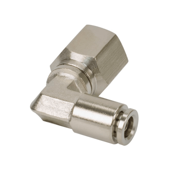 """1/4"""" NPT(F) to 1/8"""" Airline 90 Degree Swivel Elbow Fitting (2 pcs) DOT Approved"""