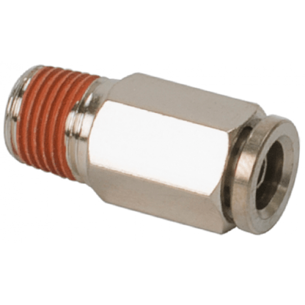 """1/8"""" NPT(M) to 1/8"""" Airline Straight Fitting (2 pcs) DOT Approved"""