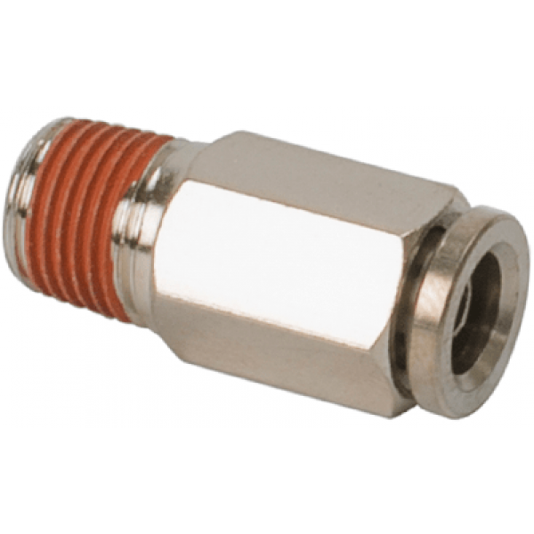 "1/4"" NPT(M) to 1/8"" Airline Straight Fitting (2 pcs) DOT Approved"