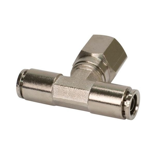 """3/8"""" NPT(F) 3/8"""" to 3/8"""" Swivel T-Fitting (10 pcs) DOT Approved"""