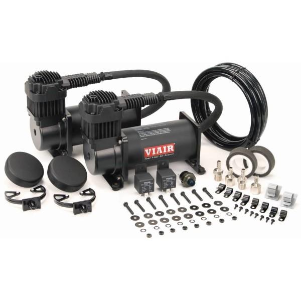 Viair 400c Dual Compressor Value Pack in Stealth Black