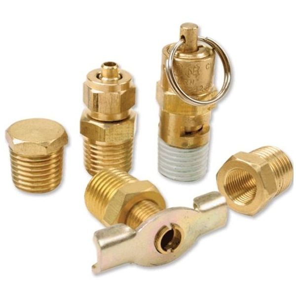 "Air Locker 5 Pc.Tank Fittings Kit (with 1/4"" NPT M to 1/8"" BSP F Adapter) (For 200PSI Rated Systems)"