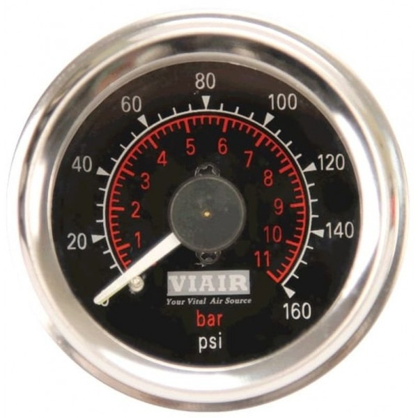 "2"" Dual Needle Gauge (Black Face, Illuminated, 160 PSI)"