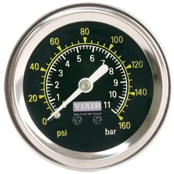 "1.5"" Single Needle Gauge (Black Face, No Light, 160 PSI)"