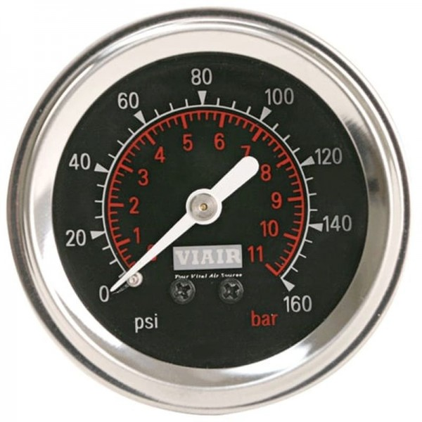 "2"" Single Needle Gauge (Black Face, Illuminated, 160 PSI)"