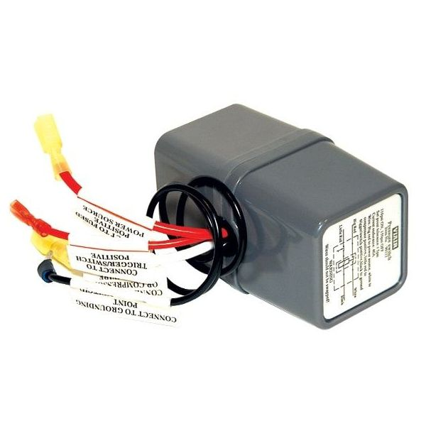 "Pressure Switch with Relay, 12V Only, 1/8"" NPT M Port, (85 PSI On, 105 PSI Off)"