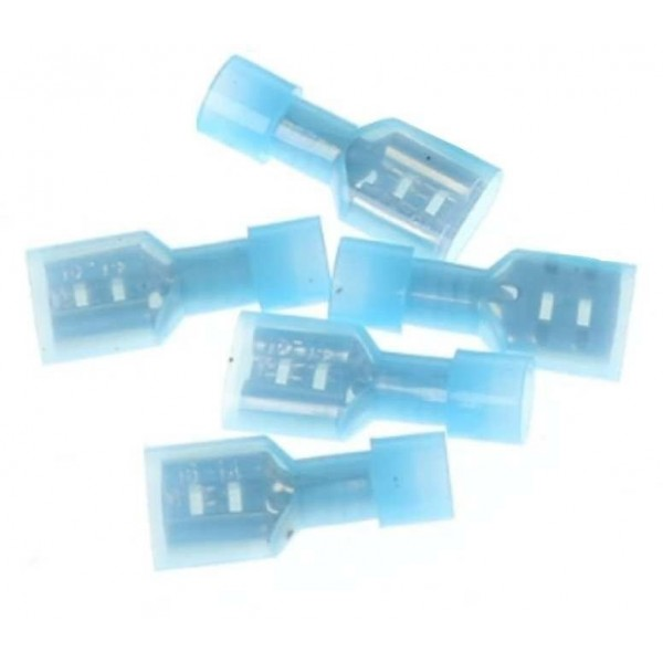 "Insulated Terminals, 1/4"" F / 12 Gauge (5 pc. Pack)"
