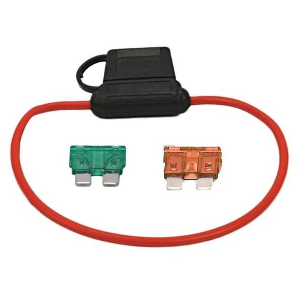 Moisture Resistant Fuse Holder (30-Amp/12 Gauge Wire Loop)