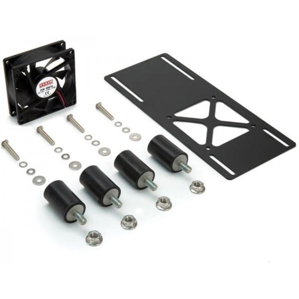 IP68 Cooling Fan With Vibration Isolator Kit, w/Mounting Hardware, Bracket (M), 24V CE